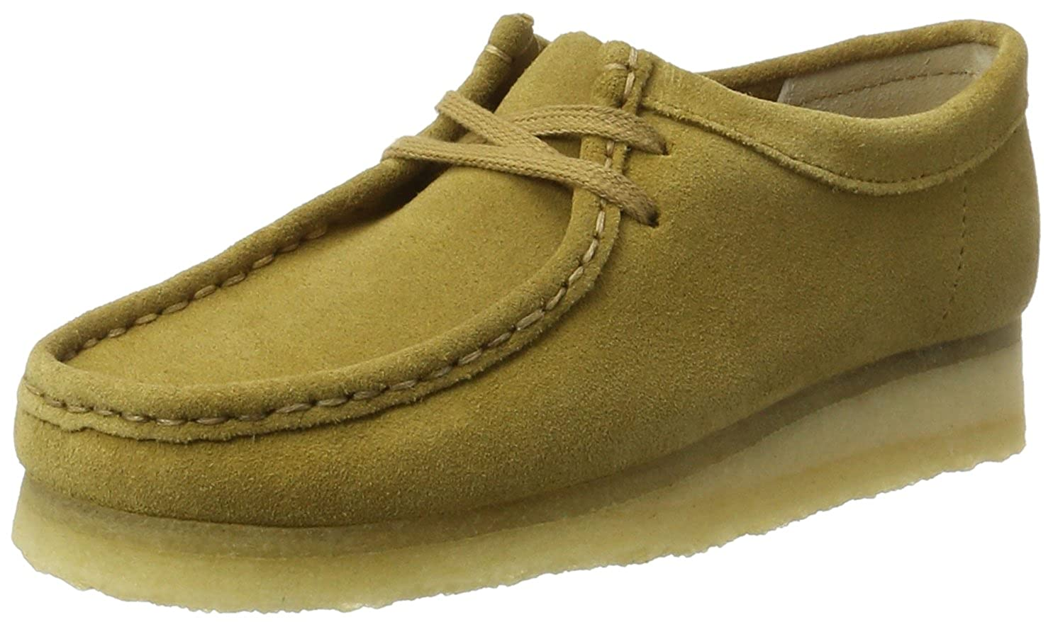 Clarks Originals Wallabee, Scarpe Stringate Donna Verde (Ochre)