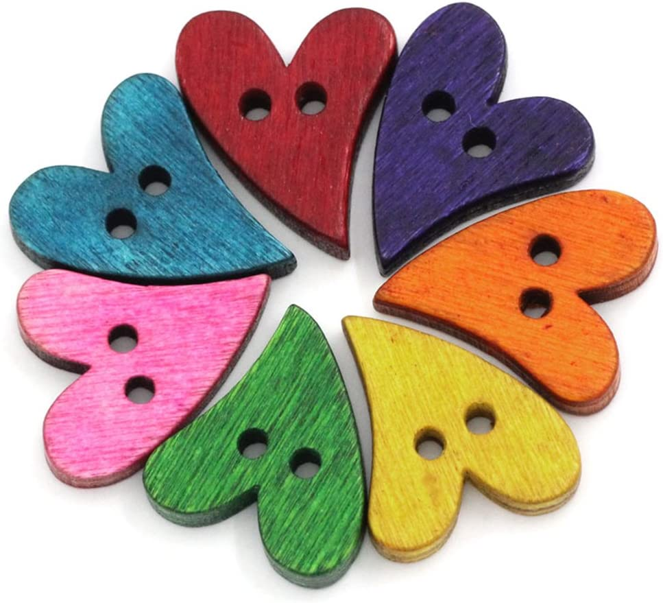 100Pcs//lot Novelty Baby Buttons Butterfly Wooden Buttons for Knitting Sewing
