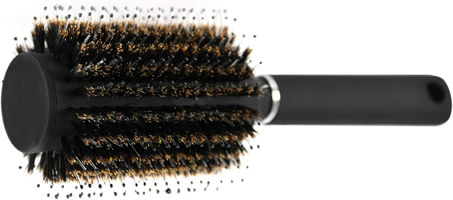 HOME-X Round Hairbrush Diversion Safe, Hidden Storage Hiding Place, Hide Money, Jewelry, Valuables-Removable Lid-Black