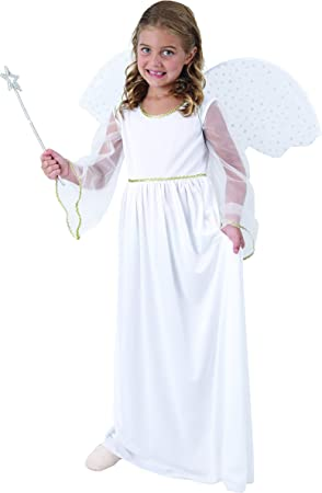 Disfraz ángel blanco niña - 7 - 9 años: Amazon.es: Juguetes y juegos