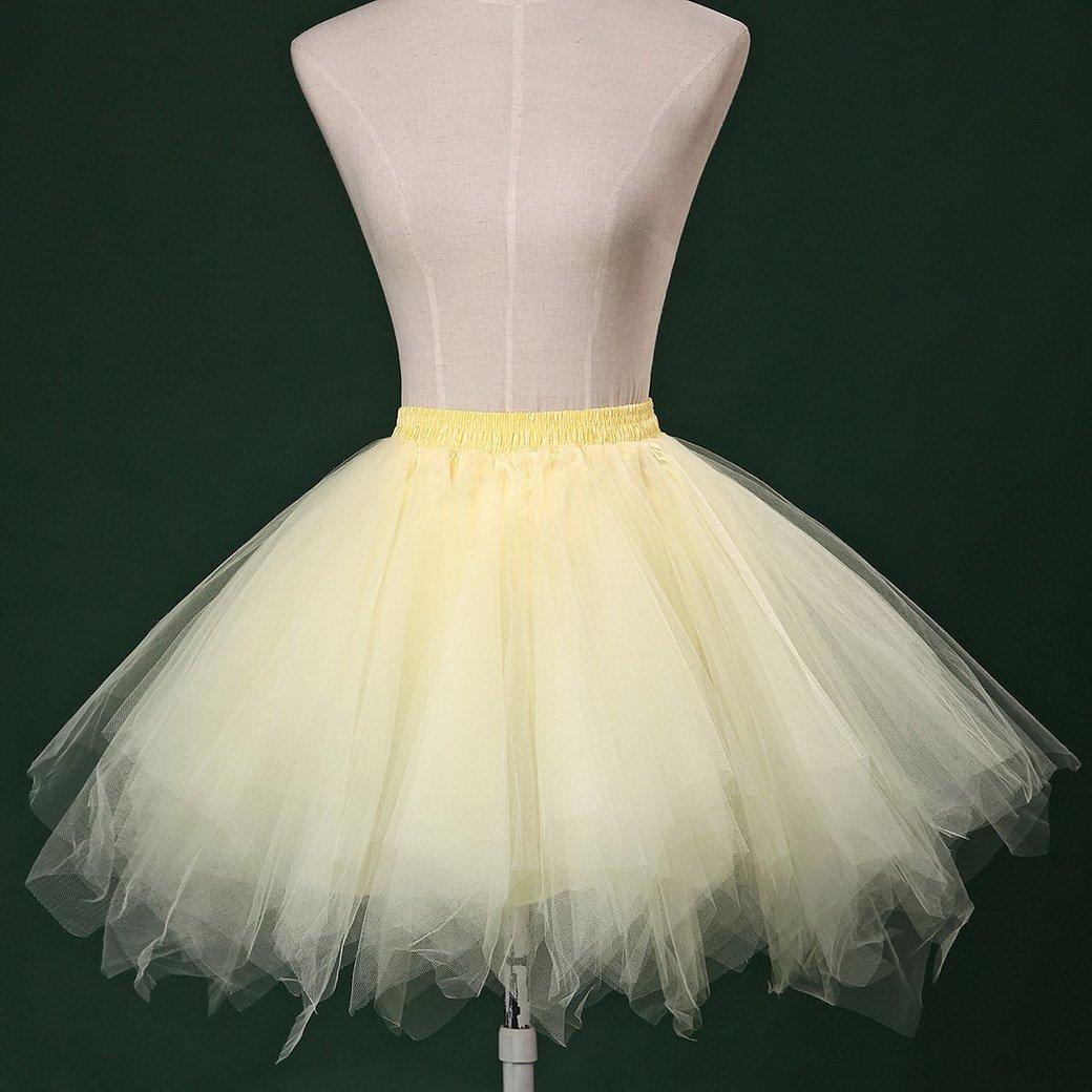 Feoya Adultos Mujer Mini Falda de Tul Tutú Princesas para Ballet Fiesta Danza Fotografía Disfraz Skirt Pettiskirt: Amazon.es: Ropa y accesorios