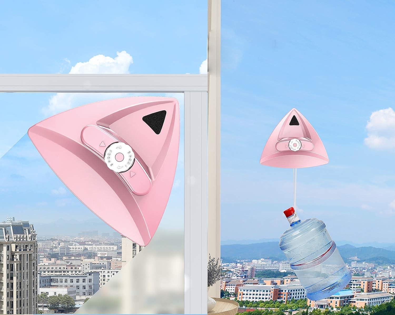 Limpiador magnético para ventanas de doble cara con cepillo de limpieza de vidrio para ventanas de alto alzado con doble acristalamiento y cuerda anticaída 9: Amazon.es: Hogar