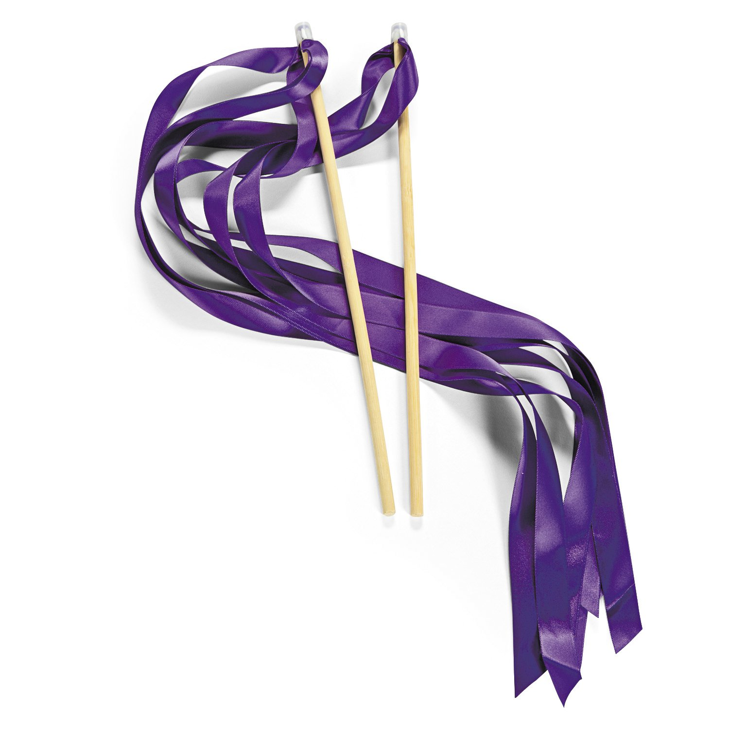 Purple Ribbon Wands (24 pc)