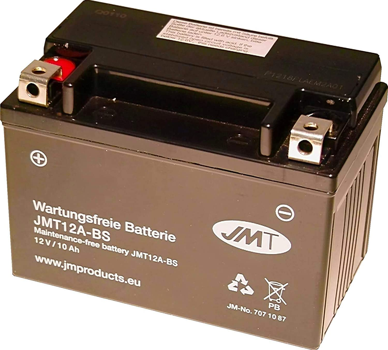 YT12A-BS Gel Batterie f/ür GSX-R 1000 Baujahr 2005-2016 von JMT