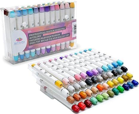 Doble punta Rotuladores Marcadores De Dibujo Profesional de color ...