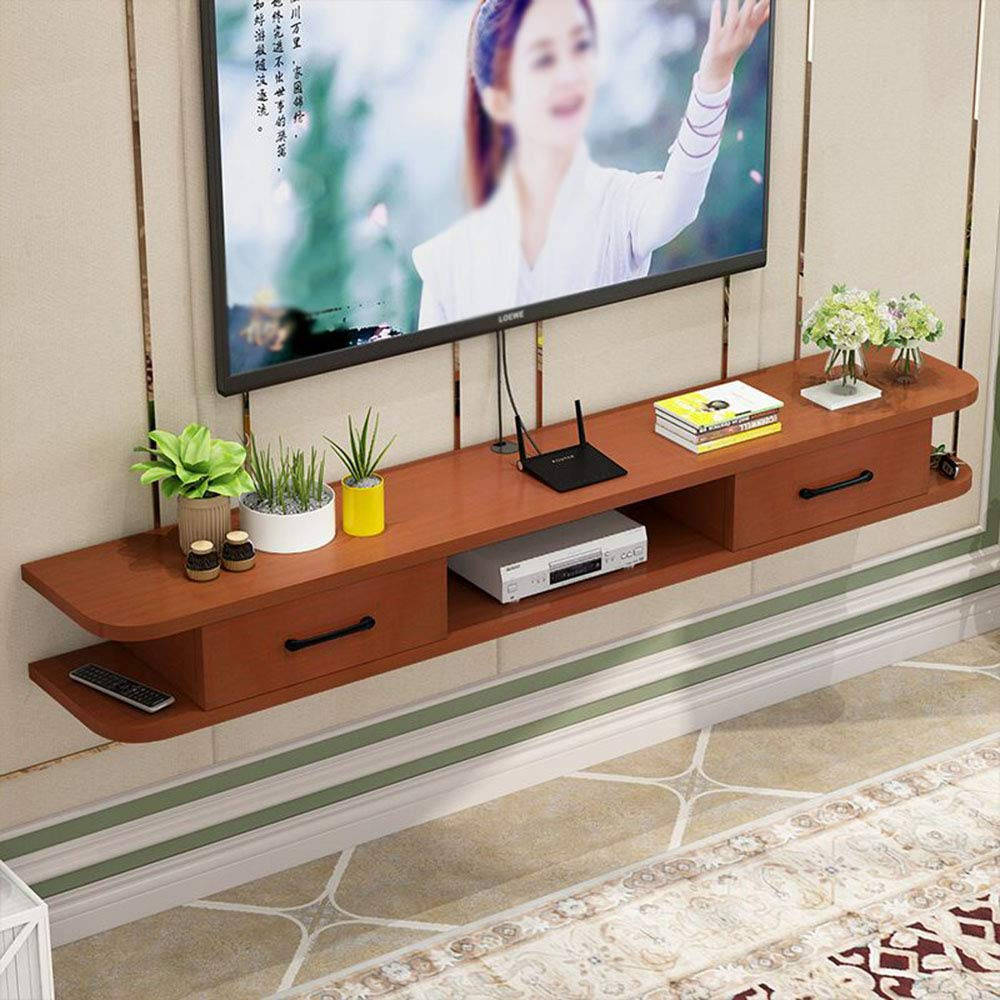 Modern Minimalist Wall-Mounted TV Cabinet, Living Room Wall Background Wooden Floating Racks, Router & TV Console Shelves, 1002416cm by wall shelf