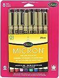 Sakura Pigma 30068 Micron Blister Card Ink Pen Set, Ass't Colors, 01 8CT Set