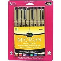 Sakura Pigma Micron Blister Card Ink Pen Set, Ass't Colors, 01 8CT Set