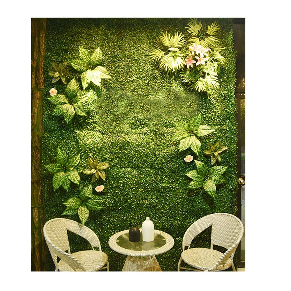 YI GAO Simulation Plant Wall Lawn Turf Background Wall Decoration Fake Flower Green Plant Wall Surface Green Plastic Indoor Environmental Protection @ (Color : 4) by YI GAO