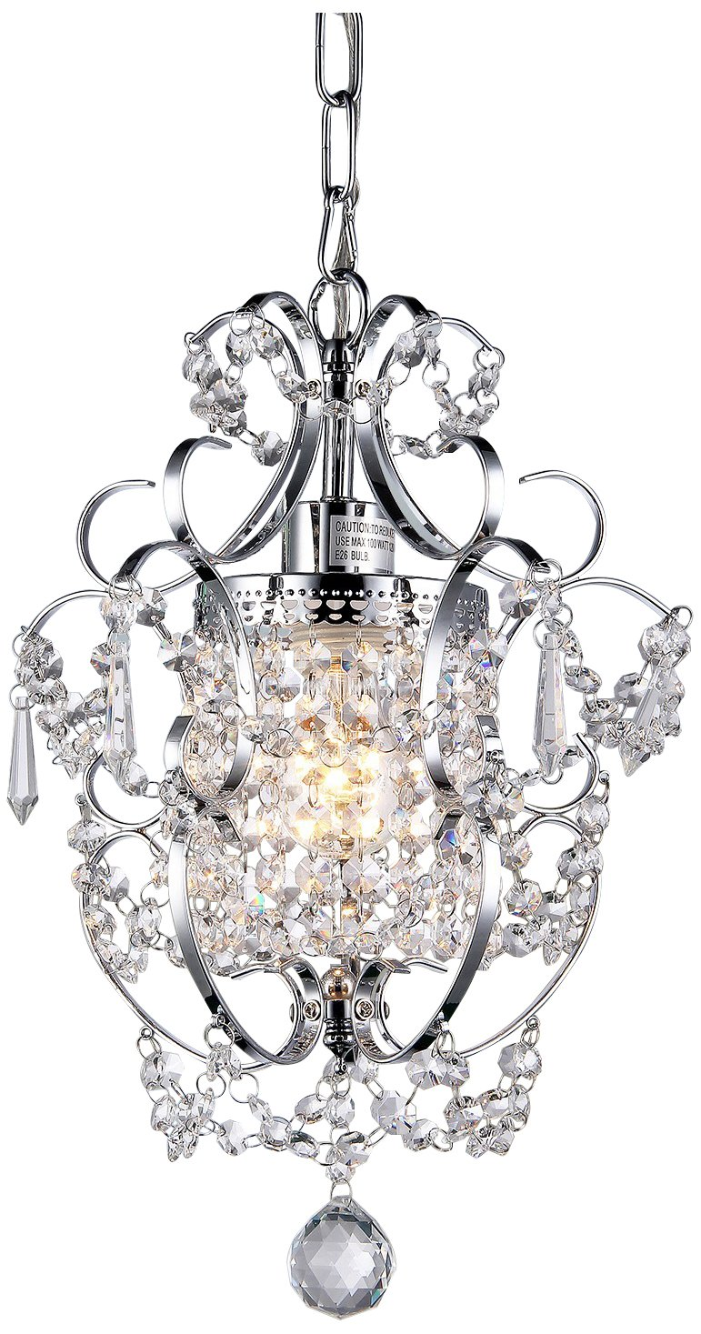 Whse of Tiffany RL4025 Jess Crystal Chandelier, 1 11'' x 15'', Chrome, 11'' by Whse of Tiffany