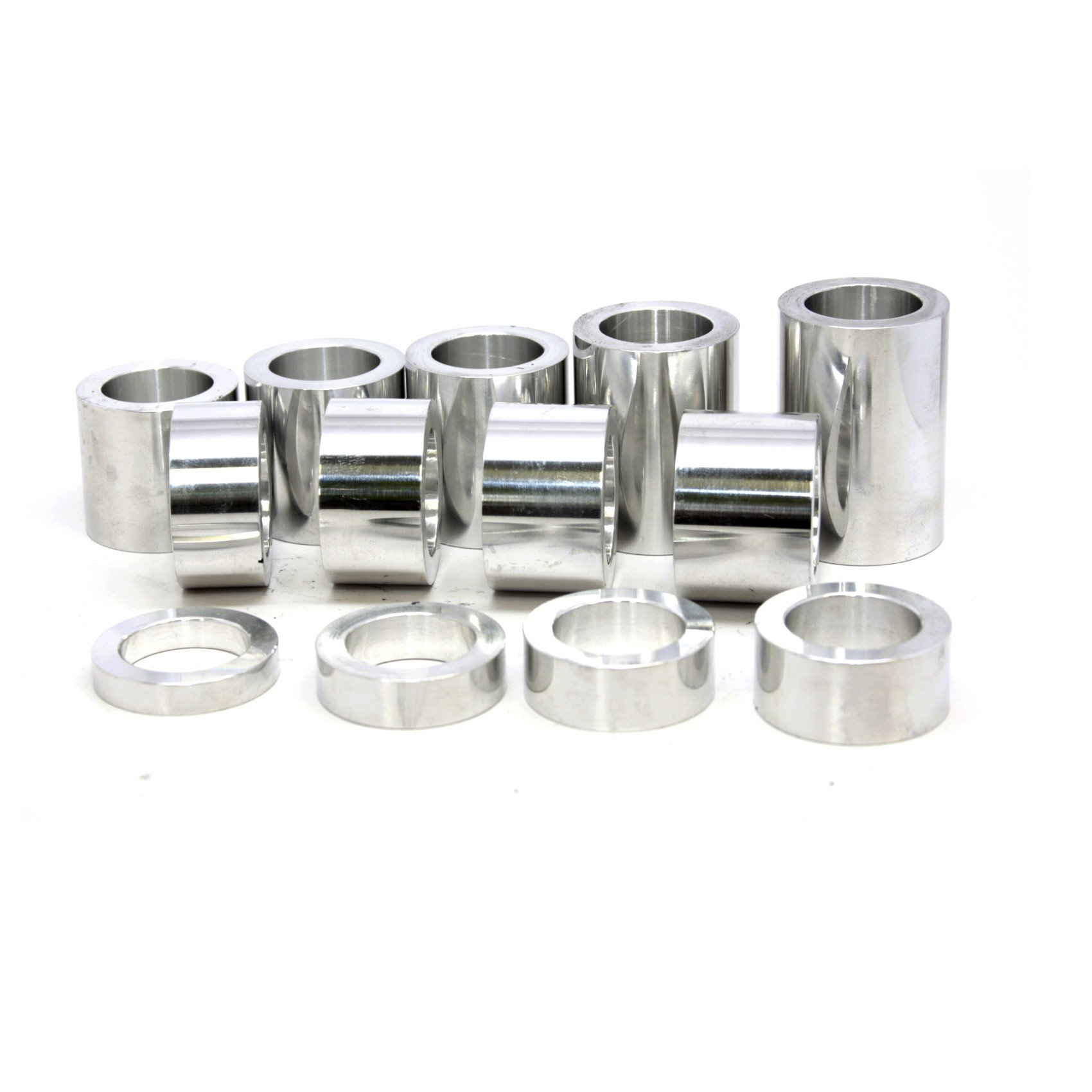 Wheel Axle Spacer Kit I.D. 3/4'' (0.75) - O.D. 1-1/4'' (1.25) - 13 Spacers Polished