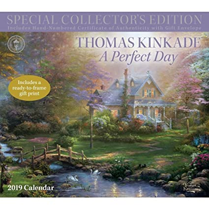 thomas kinkade plein air 2011 wall calendar