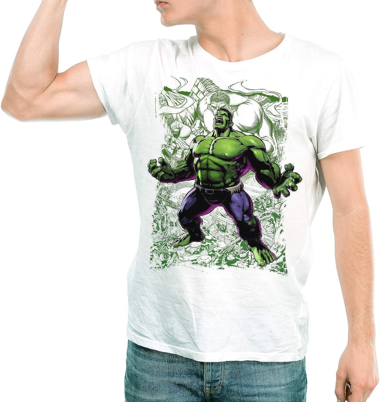 DibuNaif Camiseta Hombre - Unisex Superhéroe Hulk: Amazon.es: Ropa y accesorios