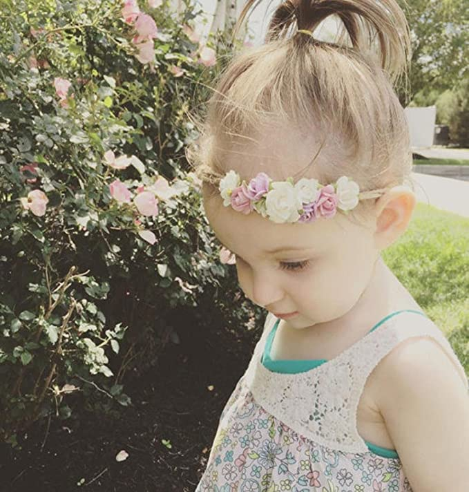 1pcs Mädchen-Baby-Feder-Blumen-Baby-Stirnband-Haar-Band-Haar-Zusätze