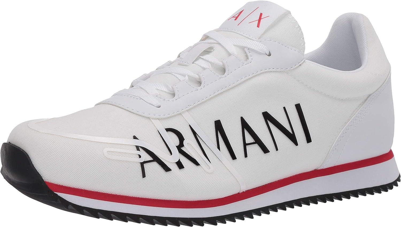 Armani Exchange Retro Running Sneakers, Zapatillas para Hombre