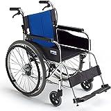 ミキ BAL-1 標準型 自走型車いす ブルー 40