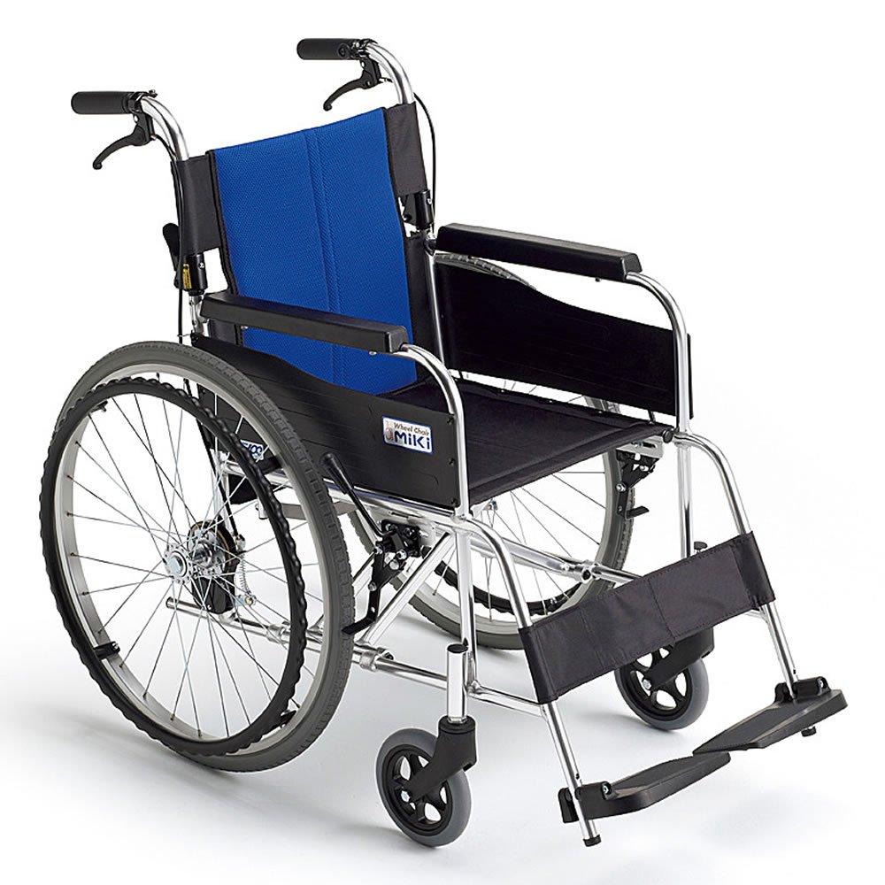 【非課税】ミキ BAL-1 標準型 自走型車いす ブルー 40 B007G3ABIK