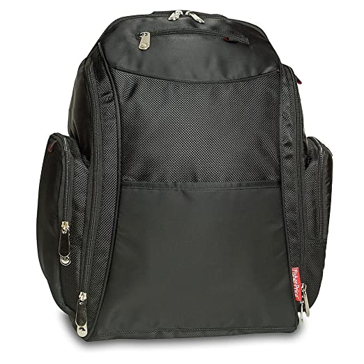 20fbe8eaec5 Amazon.com   Fisher Price Backpack Diaper Bag - Fastfinder Black   Diaper  Tote Bags   Baby