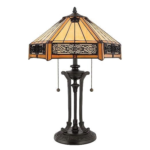Quoizel lámparas de mesa Tiffany Indus de bronce | lámpara ...