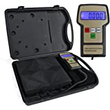 F2C Refrigerant Digital Electronic Charging Weight Scale 220 lbs for HVAC with Case