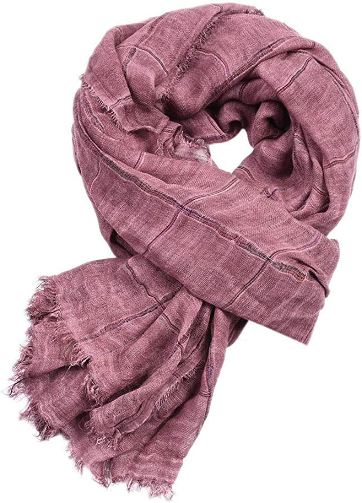 Scarf Colorful casual scarf Autumn and winter mens long twill cotton warm color woven