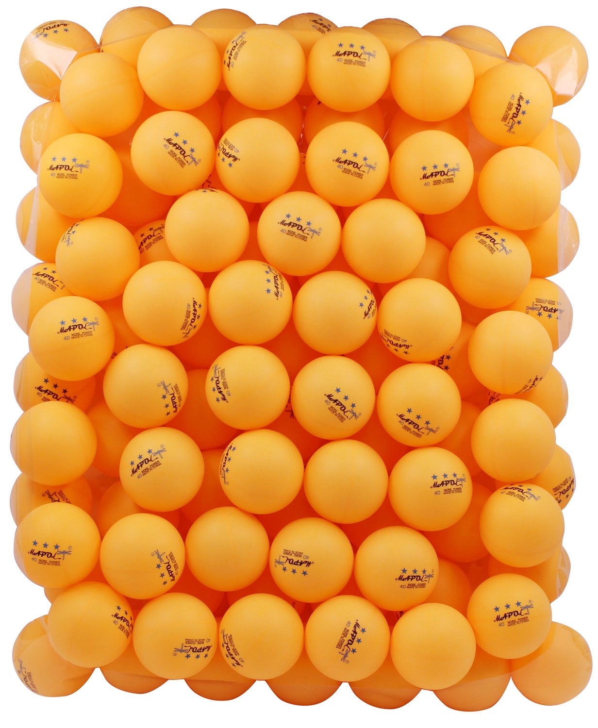 Mapol 100 orange 3 star 40mm table tennis balls advanced for 100 table tennis balls