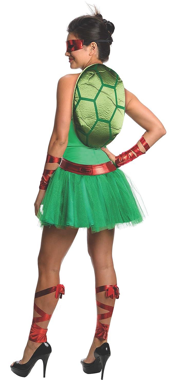 Disfraz de Raphael Las Tortugas Ninja para mujer: Amazon.es ...