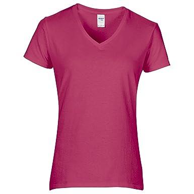 a35e852aa7b Gildan Pack of 5 Womens/Ladies Premium Cotton V Neck T-Shirt Ladies ...