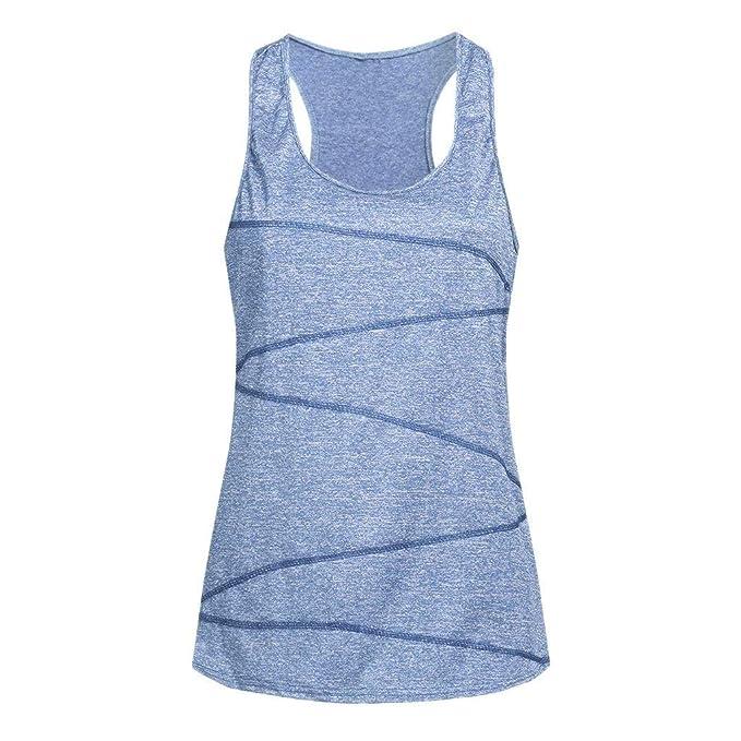 Luckycat Camisetas Básica para Mujer IR a Gimnasio Fitness Deportes Yoga Camiseta Mujer Camiseta Mujer Interior Camiseta de Tirante sin Mangas Correas ...