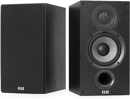 ELAC Debut 2.0 B5.2 Bookshelf Speakers, Black Pair