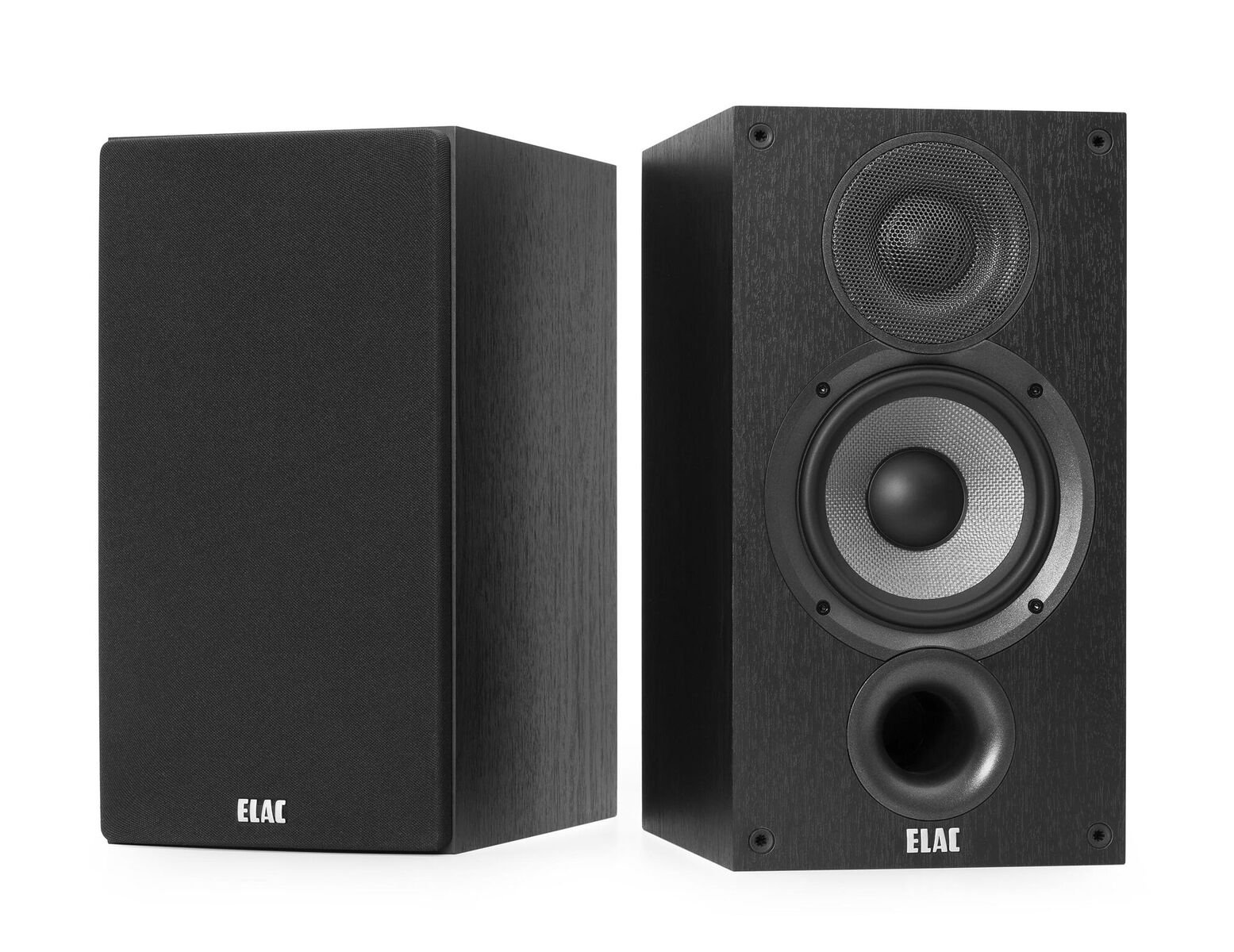 ELAC Debut 2.0 B5.2 Bookshelf Speakers, Black (Pair)