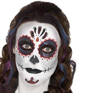 NET TOYS Maquillaje máscara Calavera Mexicana Pintura Sugar Skull Varias Unidades Kit de Belleza Día de