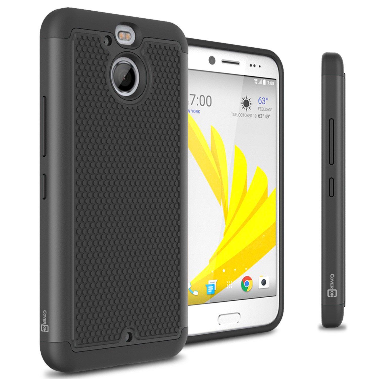 meet 05e78 2c75e HTC Bolt Hard Case, HTC 10 Evo Case, CoverON HexaGuard Series Protective  Hybrid Hard Phone Cover for HTC Bolt / 10 Evo - Black