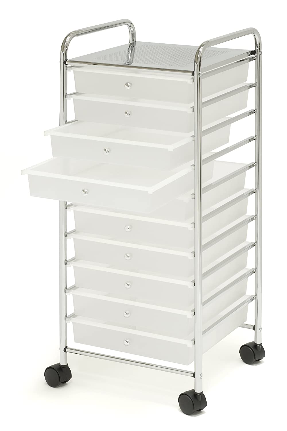 Scrapbook paper cart - Amazon Com Seville Classics 15 5 Inch By 15 4 Inch By 38 2 Inch 10 Drawer Organizer Cart Home Kitchen