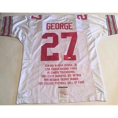 the best attitude 73e10 b34d0 Eddie George Signed Ohio State Buckeyes Stat Jersey 1 JSA ...