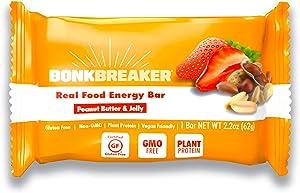 Peanut Butter & Jelly Energy Bar by Bonk Breaker - Gluten Free, Dairy Free - 2.2 Oz each- 12 Bars