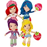 Strawberry Shortcake Plush and Friends Blueberry Muffin, Plum Pudding, Lemon Meringue 8.5 Inches