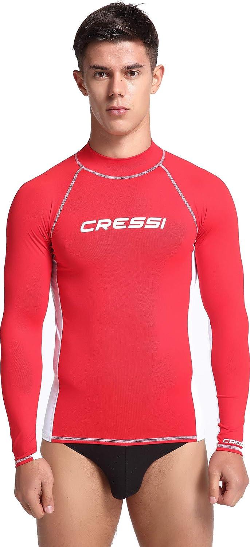 UPF 50+ Cressi Herren Rash Guard Lange /Ärmel aus elastischem Stoff f/ür Erwachsener UV-Schutz