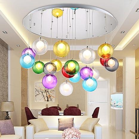 Lámpara de cristal del techo de la bola lámpara de techo de ...