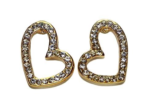 Jewel Fashion acero quirúrgico Curve - Pendientes con forma ...