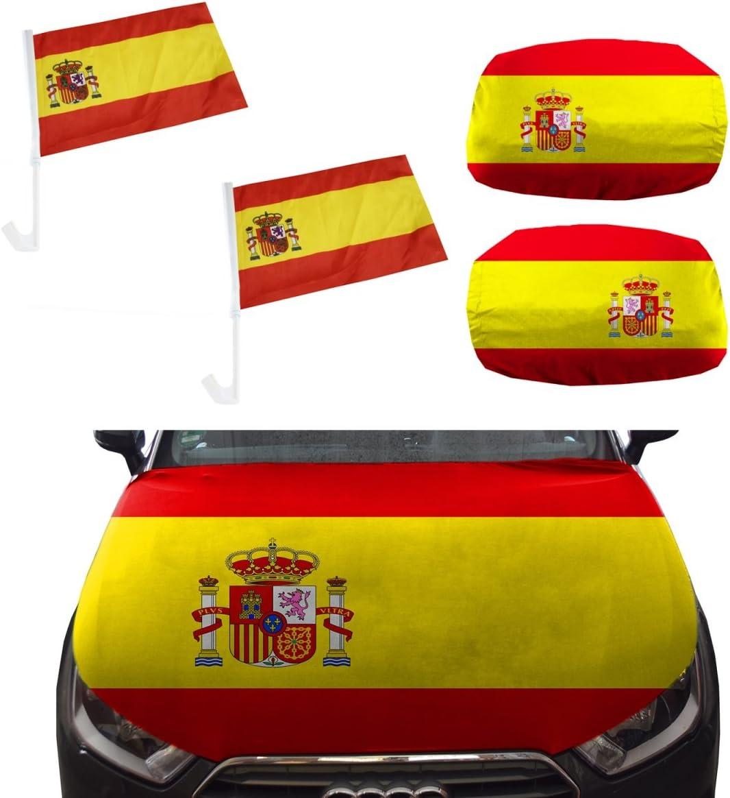 Sonia Originelli Fan-Paket-10-XL Auto WM L/änder Fu/ßball Flaggen Motorhaube