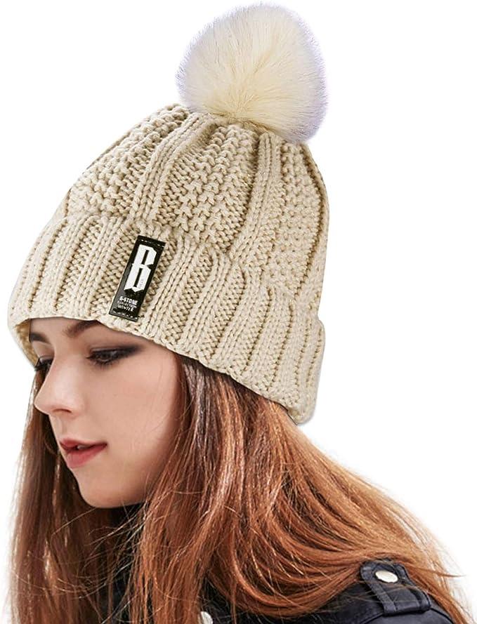 Sombrero caliente de las mujeres, Proking invierno espesar cable ...