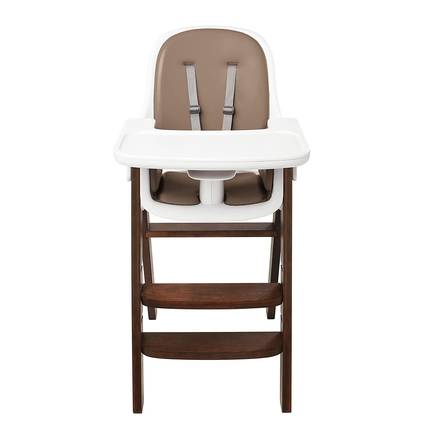 amazon com oxo tot sprout high chair taupe walnut childrens