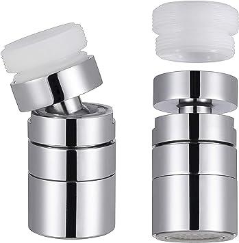 KWOKWEI - Grifo con aireador y ducha de 2 funciones (rosca ...