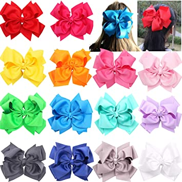 6 Inch Double Layers Hair Bow Hairband Bow Girl For Kids  Grosgrain Ribbon