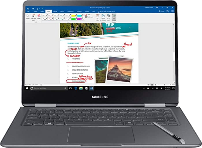 "Samsung Notebook 9 Pro NP940X5N-X01US 15"" FHD 2-in-1 Touch Screen Laptop, 8th Gen Intel Quad-Core i7-8550U Up To 4GHz, 16GB DDR4, 256GB SSD, Backlit Keyboard, Windows 10, Built-in S Pen, Titan Silver"