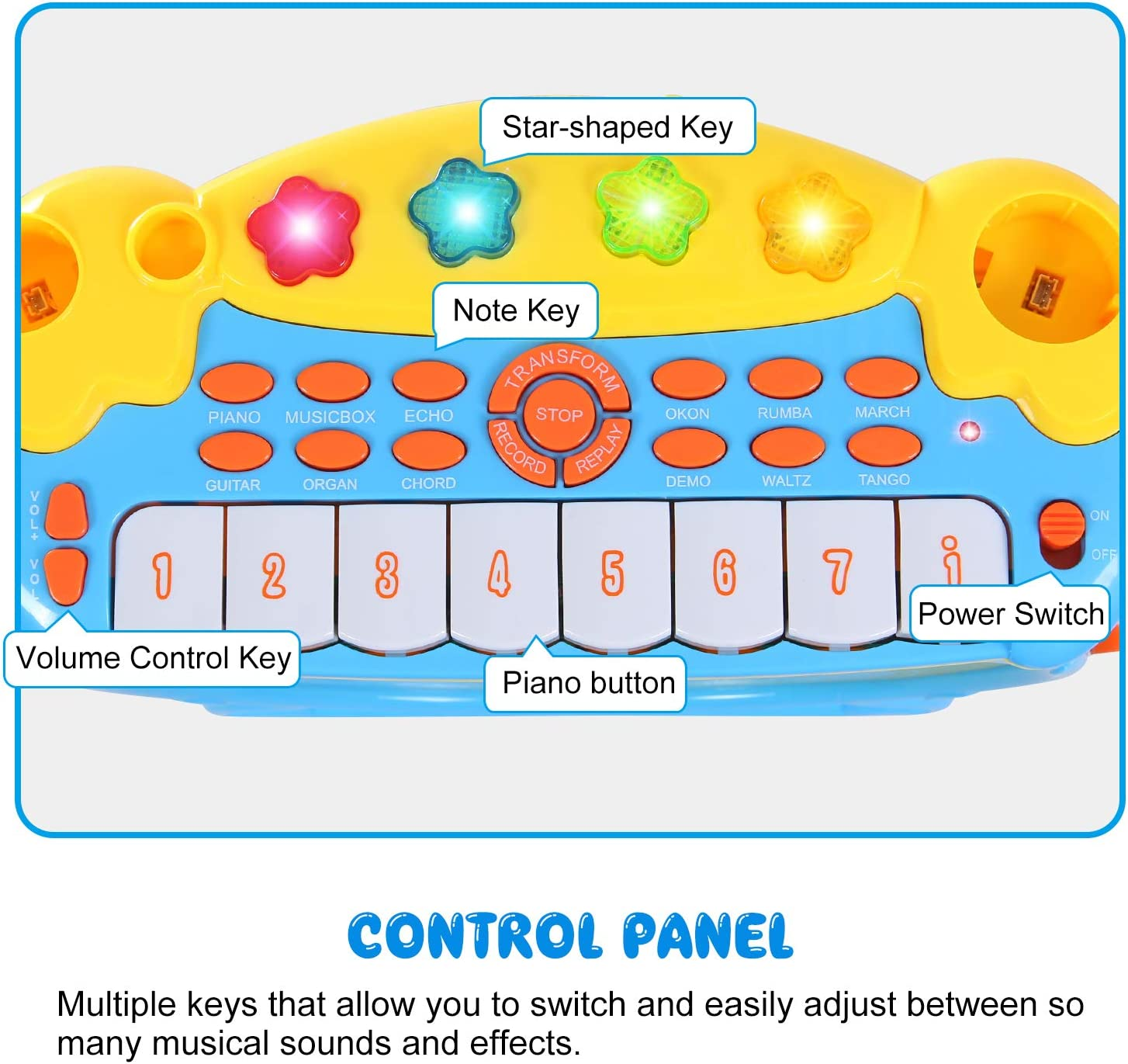 ANTAPRCIS Infantil Mini Piano Teclado Juguete con micrófono ...