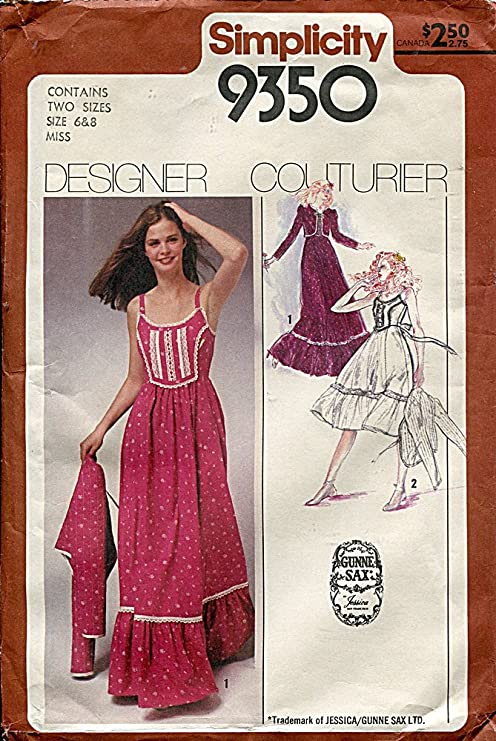 Amazon Simplicity Gunne Sax Pattern 40 Misses' Sundress In 40 Inspiration Sundress Patterns Simplicity
