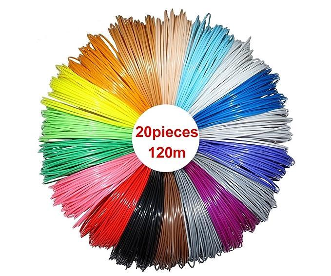 9 opinioni per NRG Clever RP3DPLA620, 20 Colori, 6 metri cadauno, 3D della penna filamento