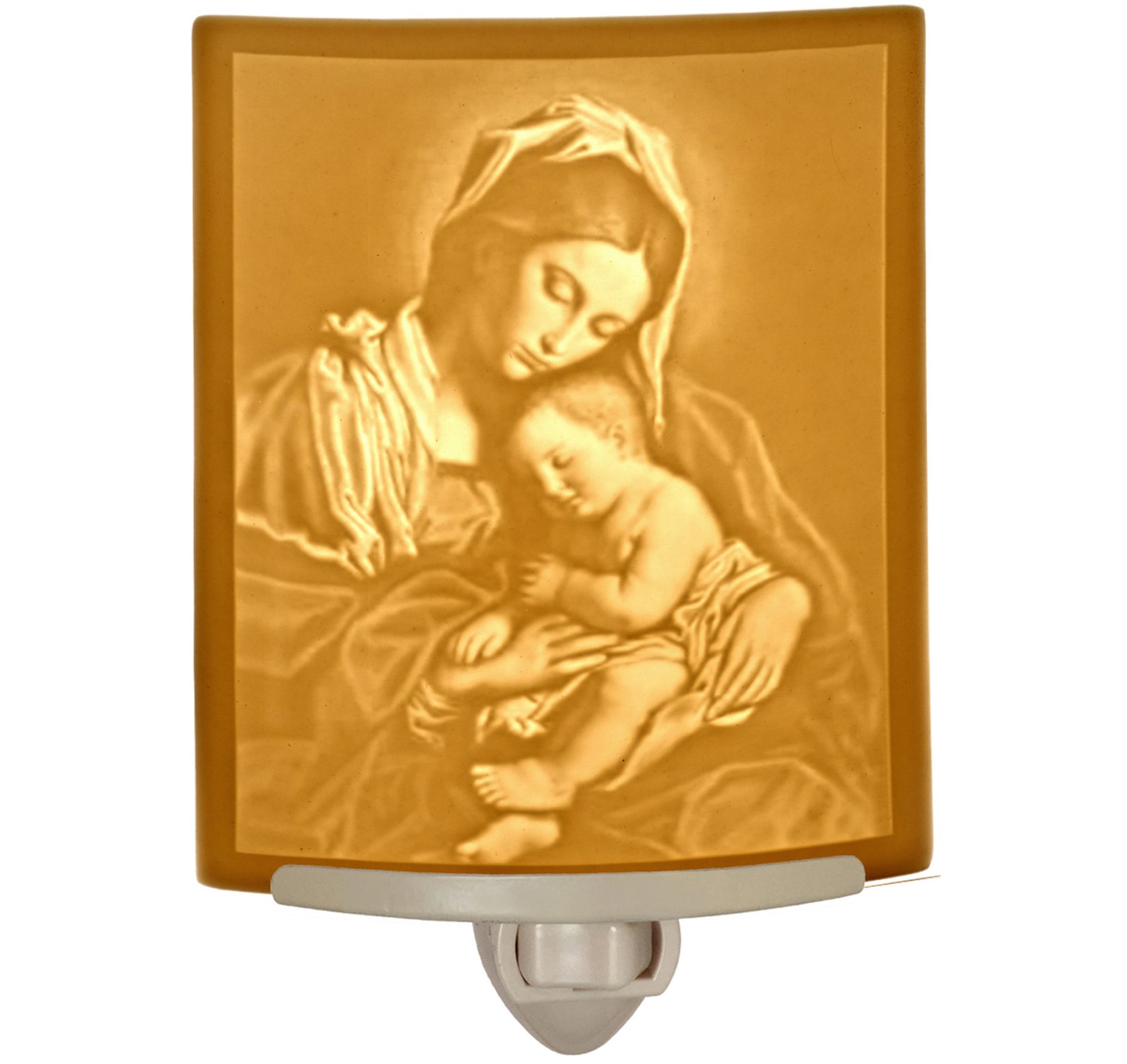 Madonna & Child - Mother Mary Curved Porcelain Lithophane Night by The Porcelain Garden (Image #1)